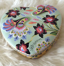Brighton Colorful Tin Heartshaped Jewelry Box