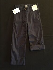 NWT Gymboree Girls Uniform Shop Navy Blue Roll Up Pants Size 4 Slim & 6 Slim