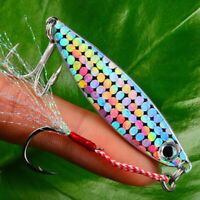 Bass Hook Jig Bait Feather Metal Fishing Lures Lead Casting Spinning Baits