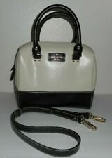 KATE SPADE Wellesley Black & White Leather Handbag Purse Hand Shoulder Bag
