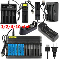 US Universal 1/2/4/10slot Smart Battery Charger for 1865*0 14500 26650 16340 etc