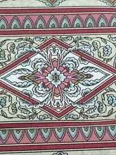 "Vintage RJR Fabrics Somerset Jinny Beyer Striped Floral Mauve on Cream 1Y x 44"""