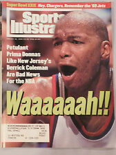 1995 SPORTS ILLUSTRATED DERRICK COLEMAN NEW JERSEY NETS