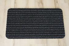 Paillasson Paillasson gazon artificiel rayé gris noir 40x70cm