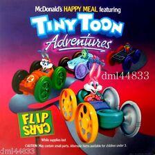 1991 McDonalds Tiny Toon 1 MIP Complete Set - Lot of 4, Boys & Girls, 3+
