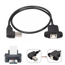 50Cm Panel Mount USB 2.0 B Socket Printer Female to Male Adapter Extension Cable