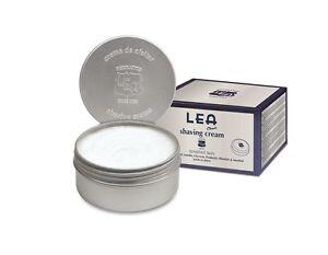 LEA CLASSIC Shave Cream Metallic Lid Can(150g/5.29oz) Sensitive Skin Travel Tin