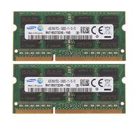 SAMSUNG 8GB 2x4GB PC3-12800 DDR3 1600MHZ 204pin laptop RAM MEMORY APPLE MAC ETC