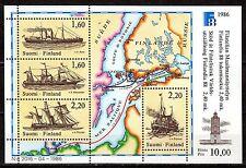 Finland - 1986 Stamp exhibition Finlandia / Ships - Mi. Bl. 2  MNH