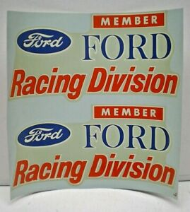 """ORIGINAL VINTAGE  WATER DECAL """" FORD RACING DIVISION """" NOS from the 60's"""
