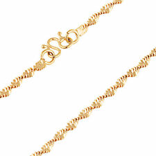 Fashion Jewellry Womens Double Water Wave Chain 9K Yellow Gold Filled Necklace