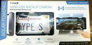 "Type S 6.8"" Wide Screen Solar Powered HD Wireless Backup Camera -Updated DESIGN"