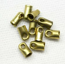 End Caps for Kumihimo, Bead Crochet, Beaded Ropes, Leather and Cord-Brass-10 pcs