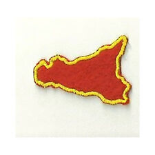 [Patch] SICILIA REGIONE ROSSA bordo giallo cm 5 x 4 toppa ricamata ricamo -193