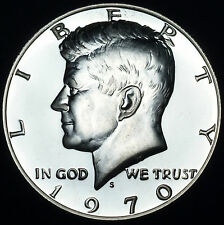 1970 S Kennedy Mint Proof Half Dollar ~ 40% Silver Clad Coinage ~ From Proof Set