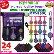 NEW! PURPLE EZY-POUCH® NURSE POUCH BAG POCKET + Watch + EXTRA BATTERY + GIFTS