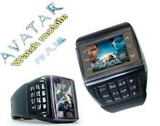 WATCH Mobile Cell PHONE QUAD BAND GSM Mp3/4 Player Keyboard AVTAR ET-1