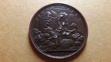 Rare 1691 Original Louis XIV Capture of Nice Bronze Medal Mauger