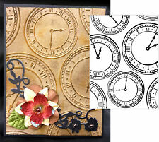 Darice Embossing Folders CLOCK BACKGROUND 1218-01 Cuttlebug Compatible folder