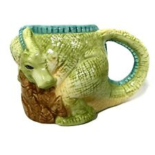 Vintage Applause Hadrosaurus Mug Dinosaur Coffee Cup 1993 Rare Green