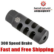 Next Level Armament NLX-10 308/7.62 Speed Brake - Precision Muzzle Device -Black