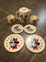 Vintage Walt Disney Mickey Mouse And Minnie Plastic Play Dishes