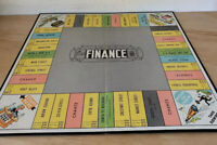 1955 THE GAME OF FINANCE Board Game Parts Game Board Parker Brothers