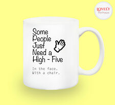 HI5 SARCASM WORK MUG funny novelty tea coffee gift women men office idea easter
