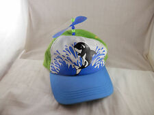 Seaworld baseball propeller cap hat Whale youth