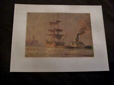 John Stobart Print Entering The Camels Nantucket Harbor