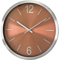 Modern Wall Clock - PERFECT - Metal Case , Brown Dial , High Quality