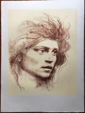 PIETRO ANNIGONI litografia VOLTO 75x55 originale non firmata (da sanguigna)