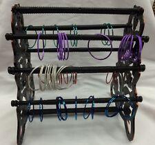 4 Neumáticos antiguo pulsera brazalete, soporte de plástico/soporte de almacenamiento de información pantalla de joyas