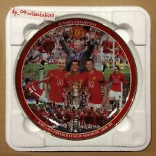 More details for official manchester united 18 times champions 2008-09 danbury mint plate ltd ed