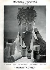 ▬► PUBLICITE ADVERTISING AD Parfum Perfume MARCEL ROCHAS Moustache 1963