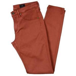Adriano Goldschmied Womens Orange Super Skinny Ankle Jeggings 26 BHFO 6907
