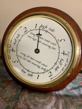 New listing Hard-To-Find Tide Clock, Nautical Barometer In Wooden Frame Great Condition!