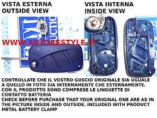 CASE BLUE KEY REMOTE CONTROL NEW FIAT STILO IDEA LANCIA Y YPSILON WITHOUT LOGO