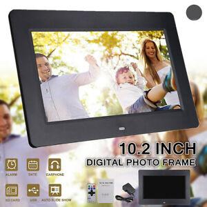 "10.2"" HD Digital Photo Picture Frame Clock MP4 Movie Player+Remote Control 2021"