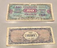 50 Francs Verso France Type 1945 - Sans Série 214 TB