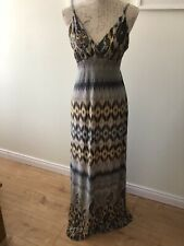 Ladies Grey Summer Maxi Dreas Size 10/12