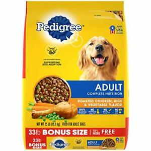 PEDIGREE Adult Complete Nutrition Roasted Chicken Rice & Vegetable Flavor Dry...