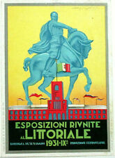 1931 MUSSOLINI ITALIAN COLONIAL EXPOSITION PROMO ART DECO POSTER, MAKE OFFER!