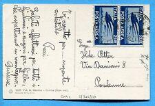 1948 P.A.DEM.£.2 usato come ORDINARIO ann.BORCA DI CADORE  (300210)