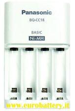 Panasonic Sanyo Eneloop Caricatore CARICA Batterie BQ-CC18 per Stilo e Ministilo