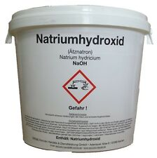 Natriumhydroxid ( Ätznatron) NaOH   5000 g  in Perlen     5 KG