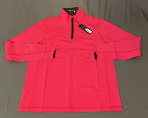 Greyson Tate 1/2 Zip Golf Pullover (M, Patriotic Pink)(NWT) MSRP $125