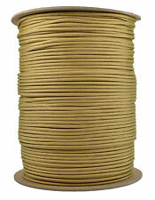 Gold - 550 Paracord Rope 7 strand Parachute Cord - 1000 Foot Spool