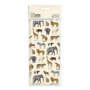 Natural History Museum Safari Pack of 4 Sheets of Tissue Paper