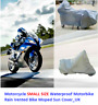Waterproof Motorcycle Cover Sheet Motorbike Moped Scooter Rain & Sun SMALL SIZE